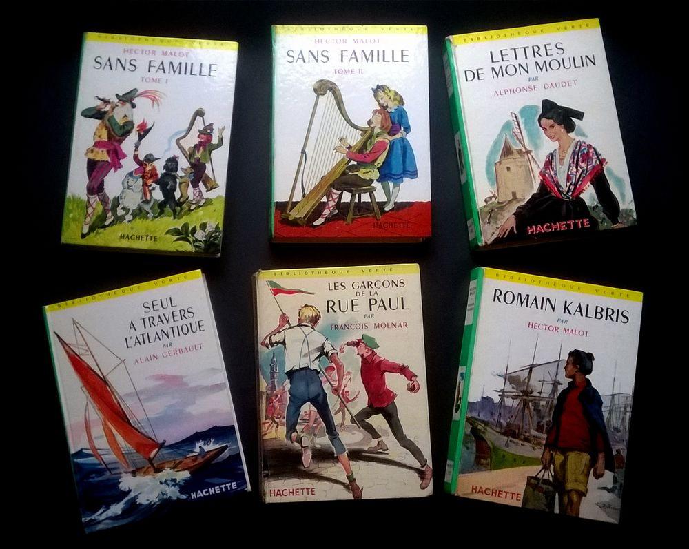 Livres de la  Bibliothèque Verte et  de Lecture et Loisir 1 Roncq (59)
