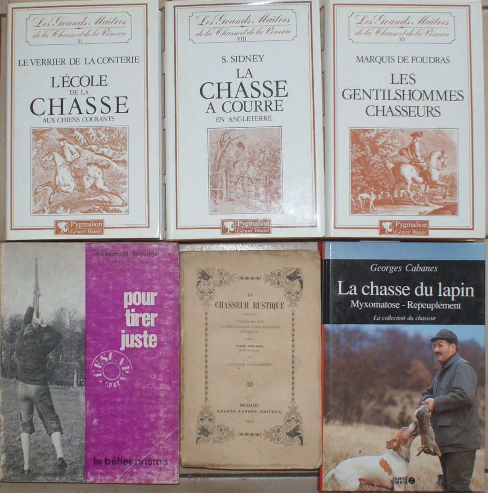 6 LIVRES sur la Chasse dont 1 vieux de 1848 65 Montcy-Notre-Dame (08)