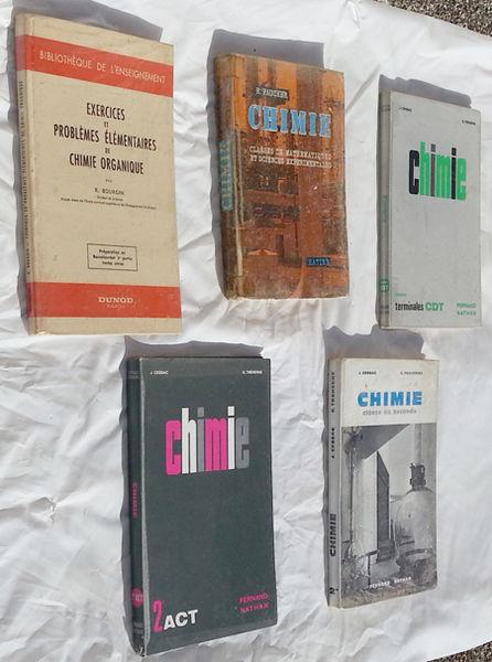 5 livres de CHIMIE en très bon état 39 Saint-Clair-sur-Galaure (38)