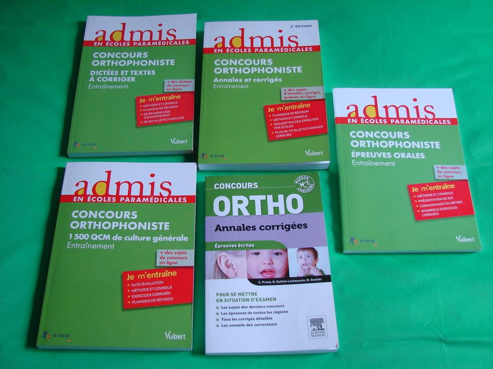 Lot 5 livres Collection:admis en école paramédicales -ORTHO  35 Les Molières (91)