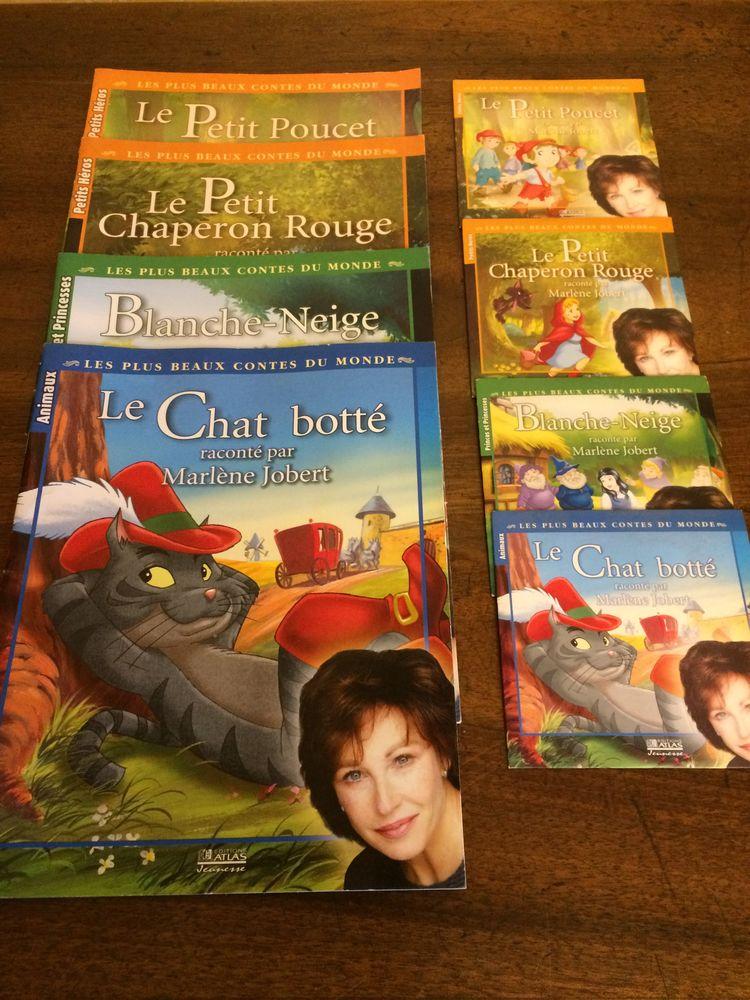 4 livres de contes + cd racontés par marlène jobert 12 Charnay (69)