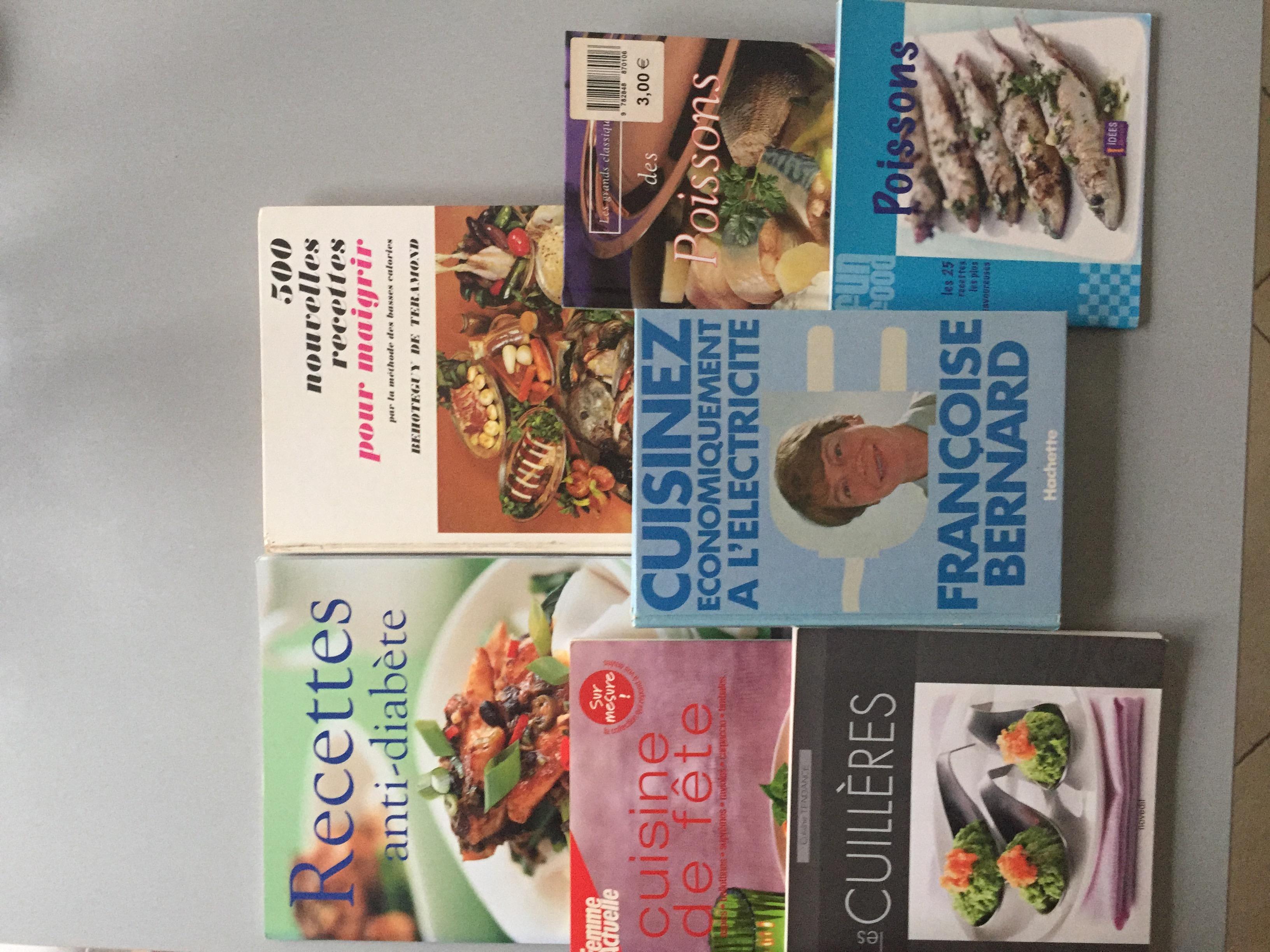livres divers de cuisine 0 Rouvroy (62)