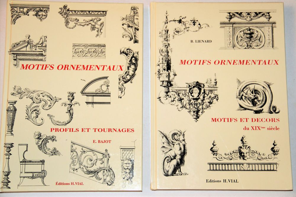 3 livres Editions VIAL: MOTIFS ORNEMENTAUX. 60 Alfortville (94)
