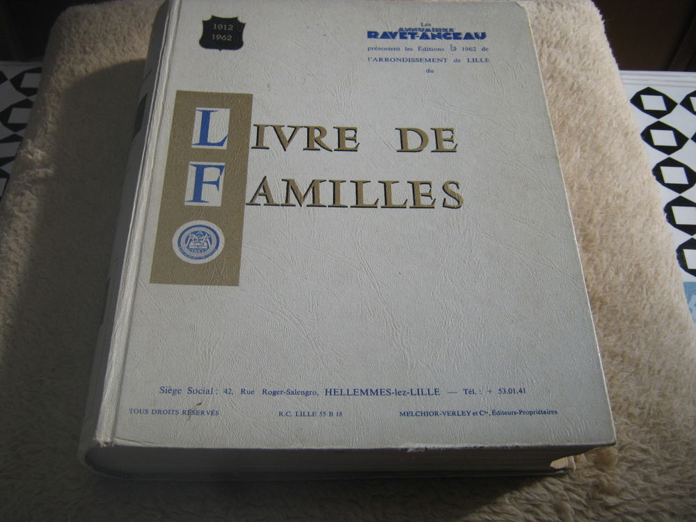 livres des familles genealogies  nord  pas de calais 50 Lomme (59)