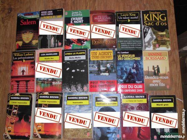 Livres fiction, policier, roman 7 Livres et BD