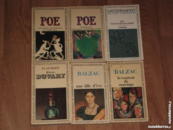 Livres Garnier Flammarion 8 Aixe-sur-Vienne (87)