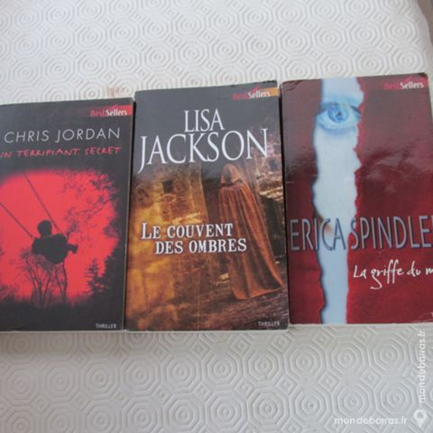 """3 livres HARLEQUIN """"BEST SELLERS"""" genre THRILLER Livres et BD"""