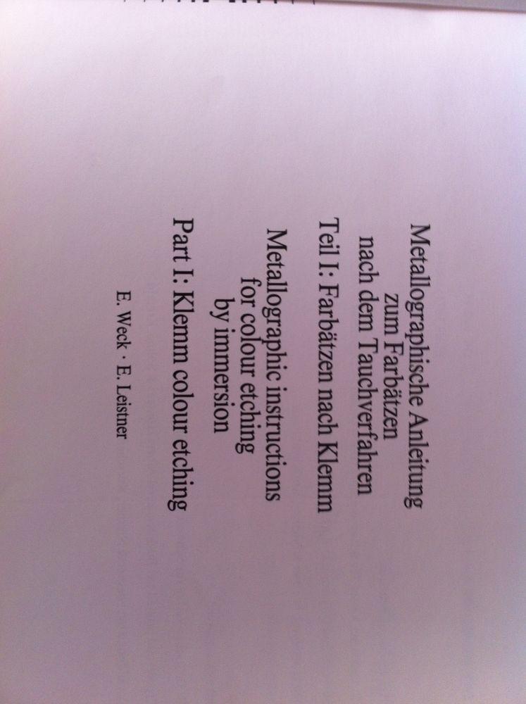 3 livres métallographie colour etching  30 Le Blanc-Mesnil (93)