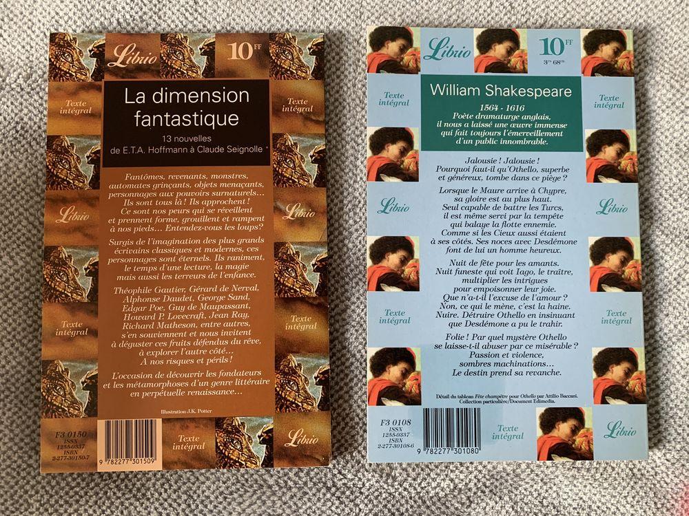 Lot de 2 livres: Othello et La dimension fantastique 10 Arcueil (94)