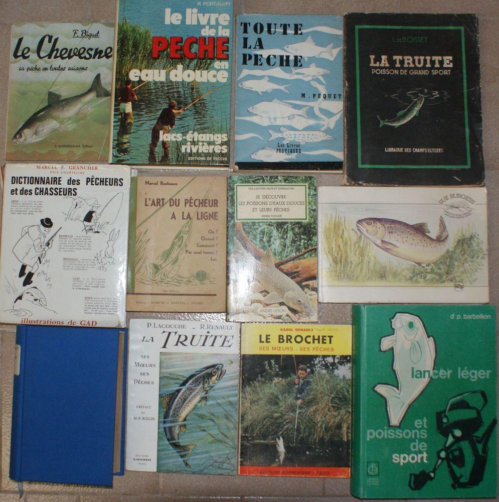 12 livres de pêche anciens 69 Montcy-Notre-Dame (08)