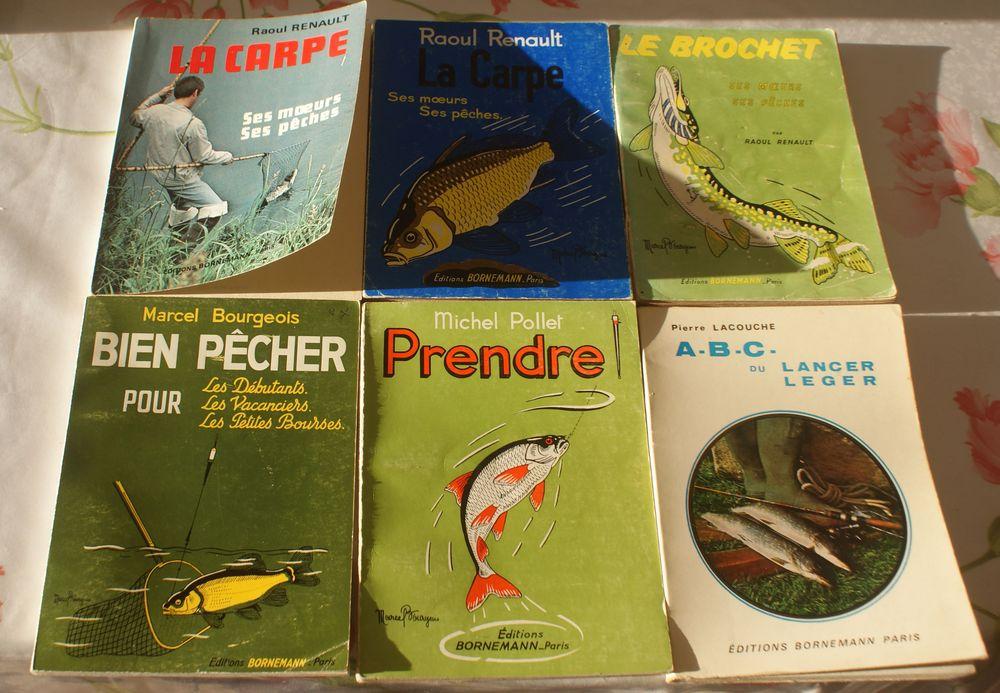 6 livres sur la pëche RENAULT BOURGEOIS POLLET LACOUCHE 65 Montcy-Notre-Dame (08)