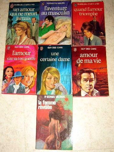 mot de 7 livres de poche editions  J'ai lu  et Guy des Cars 8 Versailles (78)
