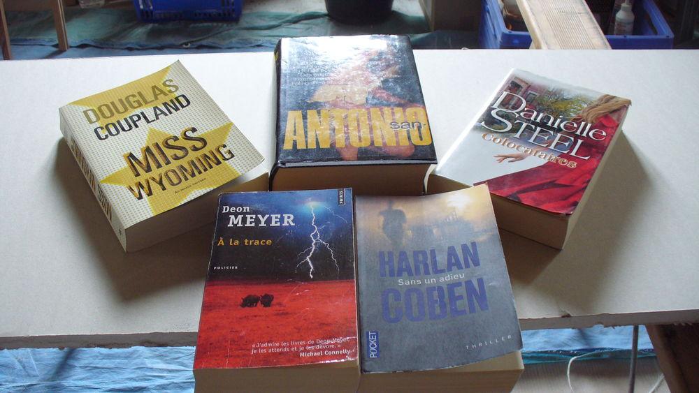 5 livres policier et roman 0 Hennebont (56)