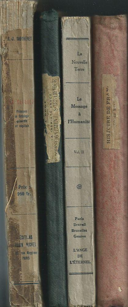 1    lot de 4 livres scolaires 1887 à 1949  23 Tours (37)