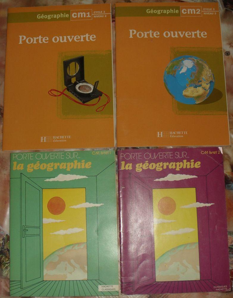 Lot de 4 livres de la série Porte Ouverte en Géographie CM 28 Montreuil (93)