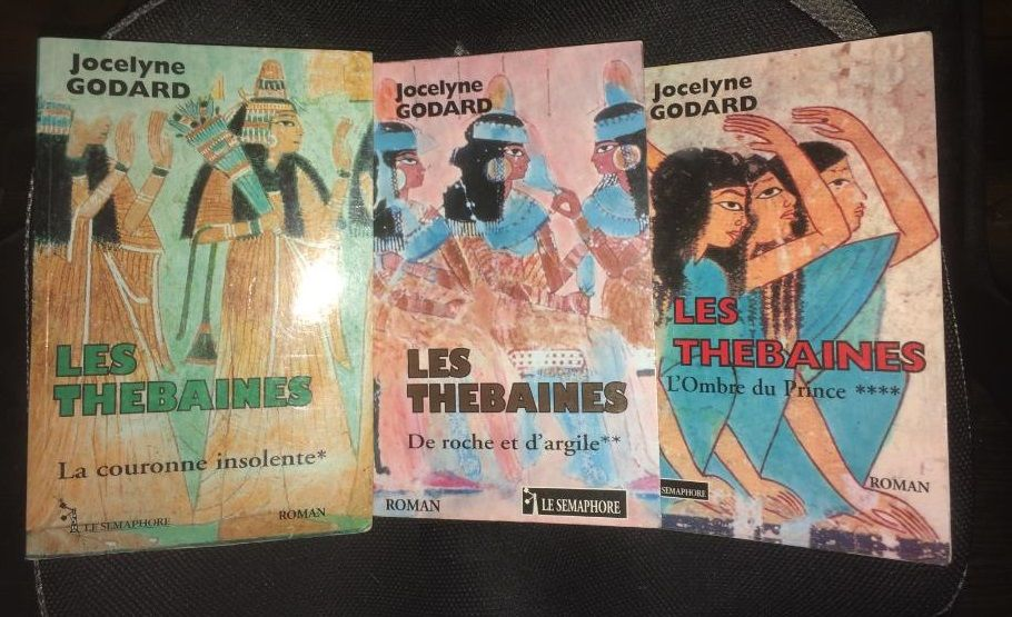 lot de 3 livres de la série  LES THEBAINES  6 Les Églisottes-et-Chalaures (33)