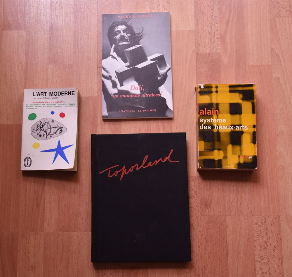 Lot de 4 livres.TOPORLAND +. Dali. Muller. Alain. 120 euros 120 Gujan-Mestras (33)