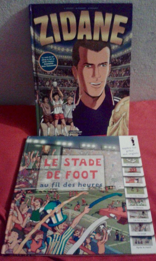 2 Livres  ZIDANE  et  Le stade de foot au fil des heures  12 Paris 19 (75)