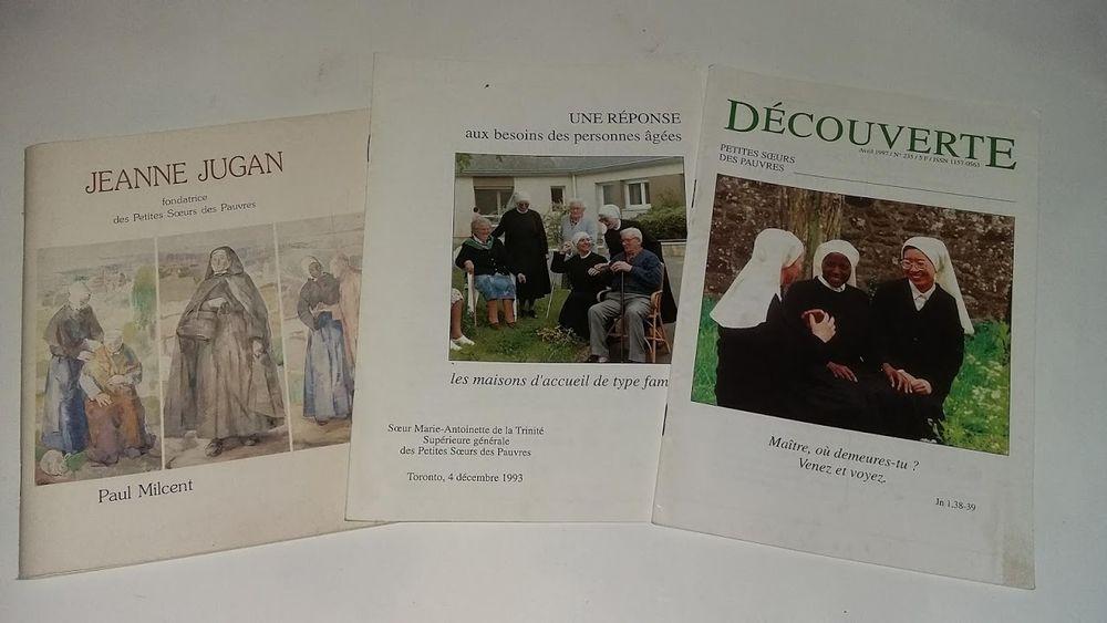 3 livrets sur jeanne Jugan et les petites soeurs des pauvres 1 Saumur (49)