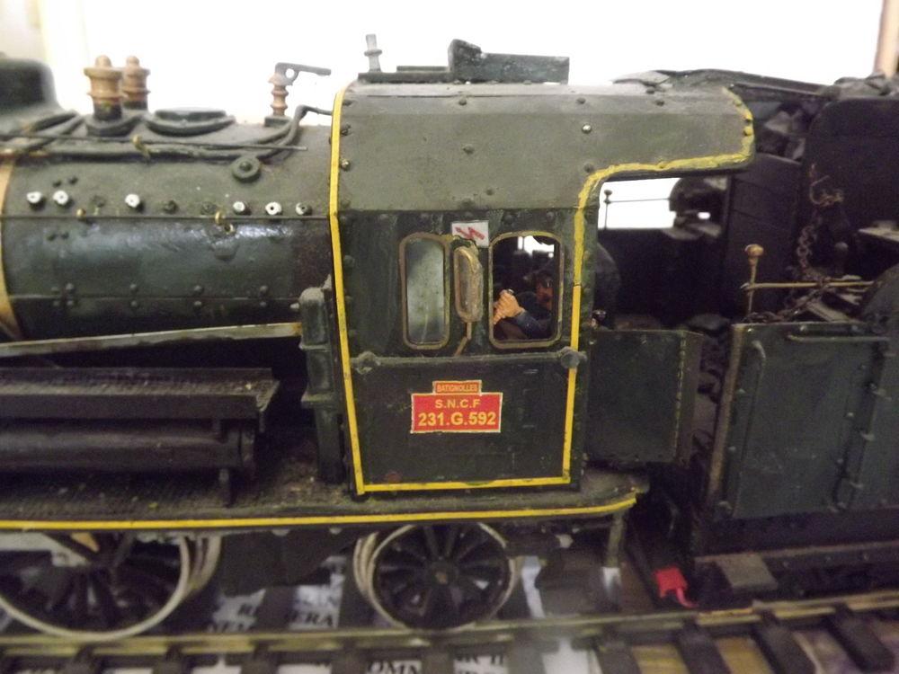 locomotive à vapeur 231G592 SNCF échelle 1/32 éme  0 Carnoules (83)