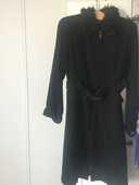 long manteau noir daim marque Jennyfer 25 Rueil-Malmaison (92)
