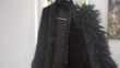 longue veste noir avec col imitation fourrure  Vêtements