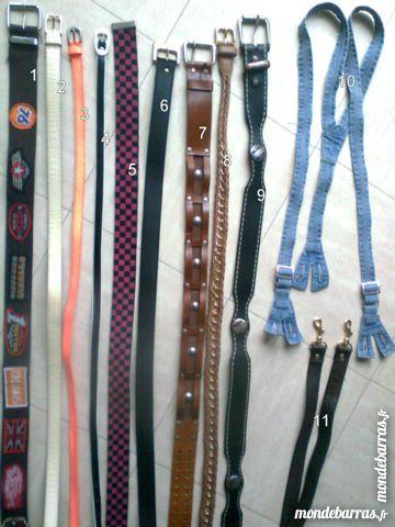 lots de ceintures diverses - zoe Bijoux et montres