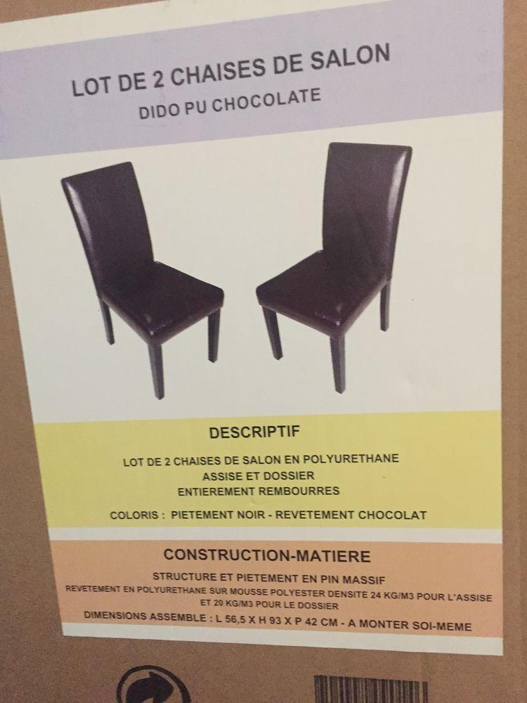 2 Lots de 2 chaises DIDO PU CHOCOLATÉ  180 Toulouse (31)