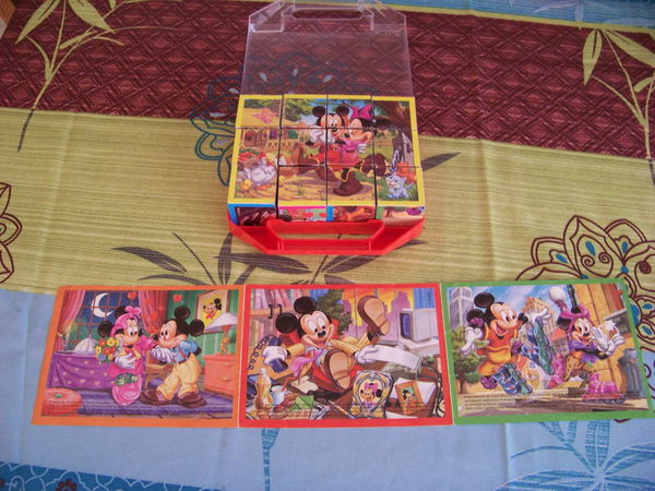 """Lots de deux boites de puzzle-cube """"Disney"""" Jeux / jouets"""