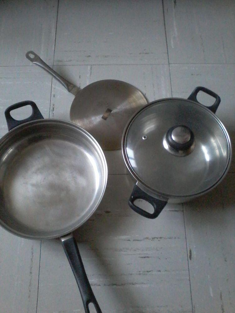 Lots faitout  Poêle chauffe  plat inox  40 Tourcoing (59)