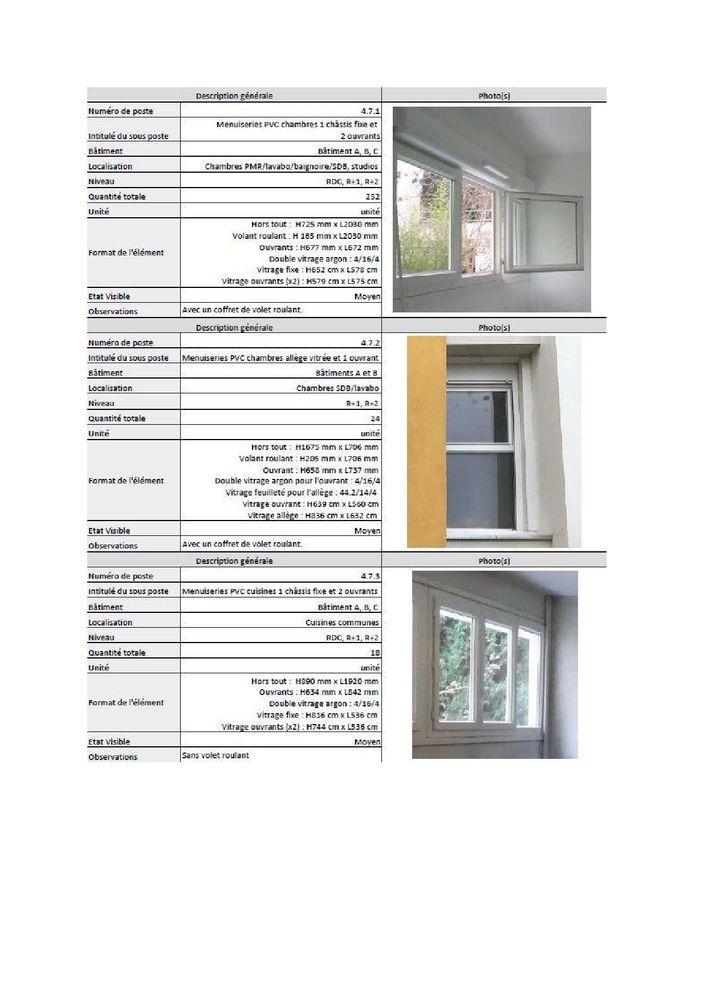 Lots de fenêtres et porte-fenêtres PVC d'occasion - Montpell 0 Montpellier (34)