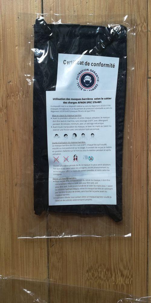 3 lots de 10 masques en tissu lavable certifié afnor mixte