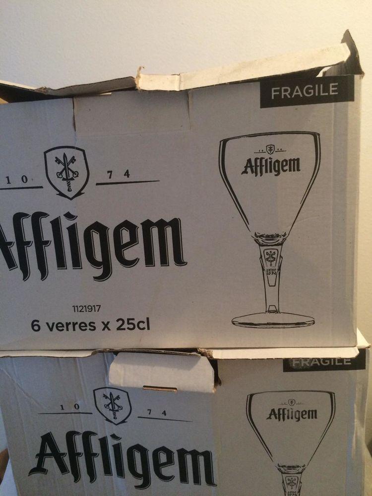 2 Lots de 6 Verres A Bières Affligem 25 Cl