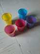 Lots 5  verres de couleur