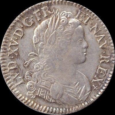 Louis XV écu 1718 Limoges 500 Couzeix (87)