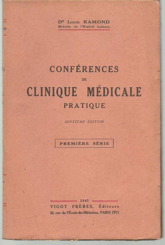 Dr Louis RAMOND Conférences de clinique mcale pratique 1re série 12 Montauban (82)