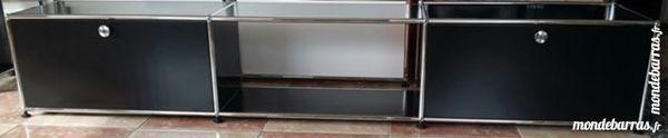 lowboard tv/hifi usm haller anthracite 2 portes abattantes 1090 Chenoise (77)