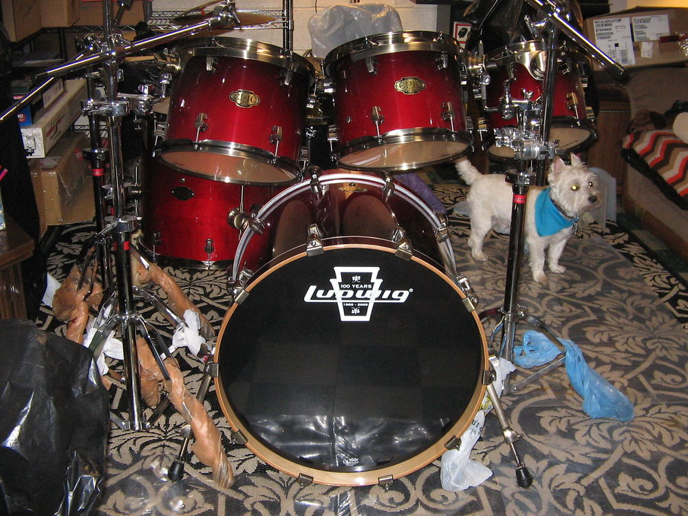 LUDWIG DRUMS KIT LUDWIG ELEMENT 200 4F ROUGE PAILLETE 450 Nanterre (92)