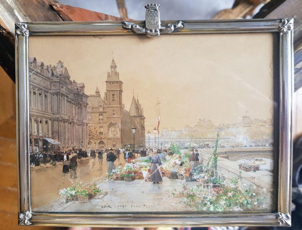 LUIGI LOIR (1845-1916) PARIS, MARCHE AUX FLEURS 5500 Lyon 6 (69)