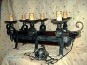 luminaire fer forgé 6 LAMPES vintage parfait état 35 Nanterre (92)
