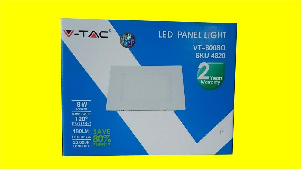 V-TAC LUMINAIRE LED PANEL LIGHT 8W SKU: 4820 - VT-800 SQ 12V 8 Saint-Pôtan (22)