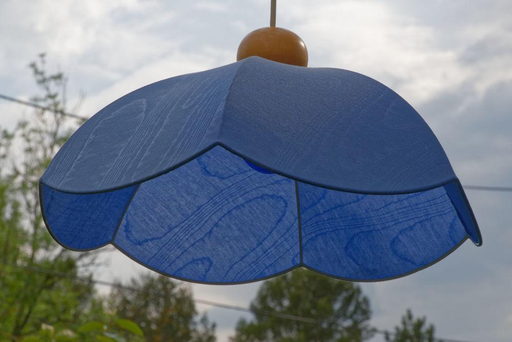 Luminaire suspension avec abat-jour bleu 12 Rousset (13)
