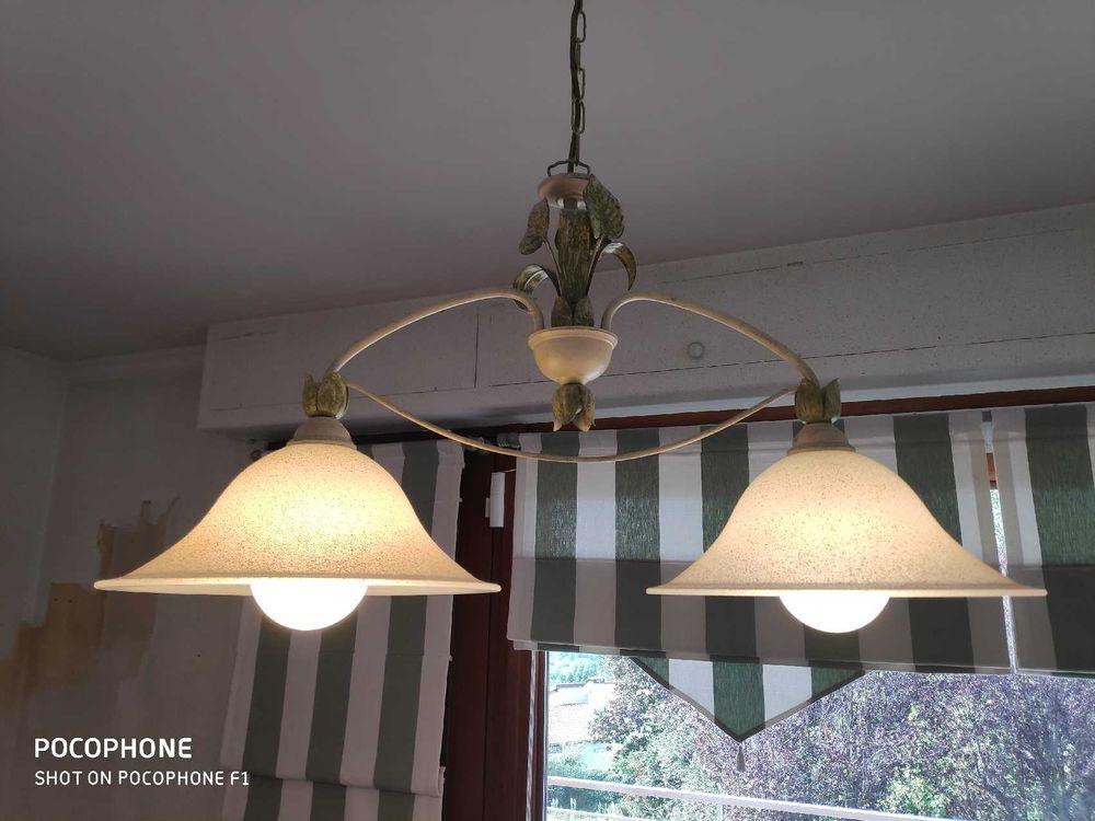 Luminaire suspension double éclairage avec ampoules. 70 Lyon 1 (69)