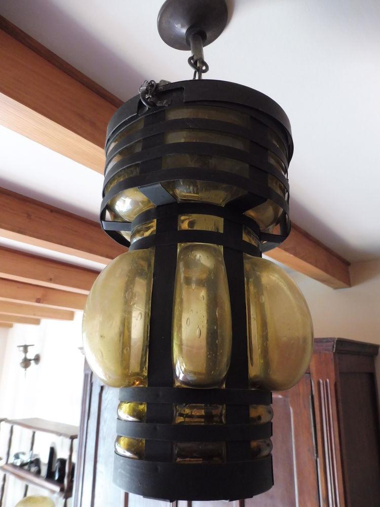 Luminaire suspension verre soufflé 80 Saillans (26)