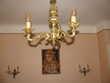 Lot Lustre + 2 appliques,  style ancien imitation bronze Maleville (12)