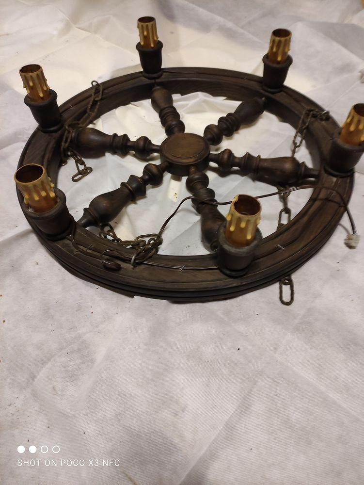 Lustre en bois 6 luminaires Style Gouvernail Marin Diametre  25 Racquinghem (62)