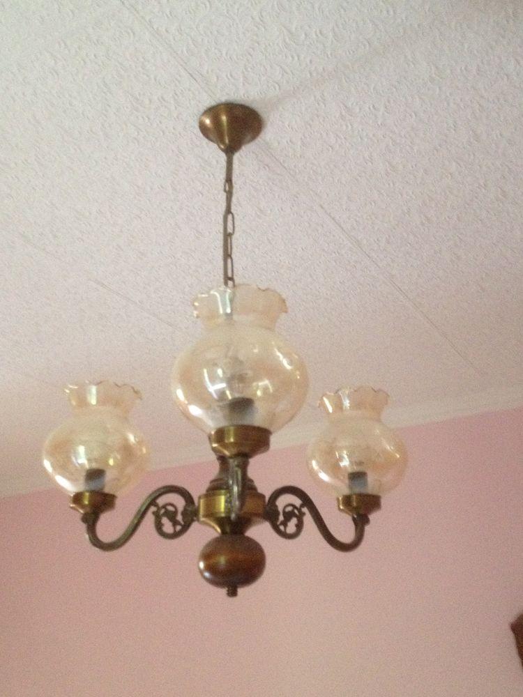 lustre en bois et métal 3 branches  30 Alès (30)