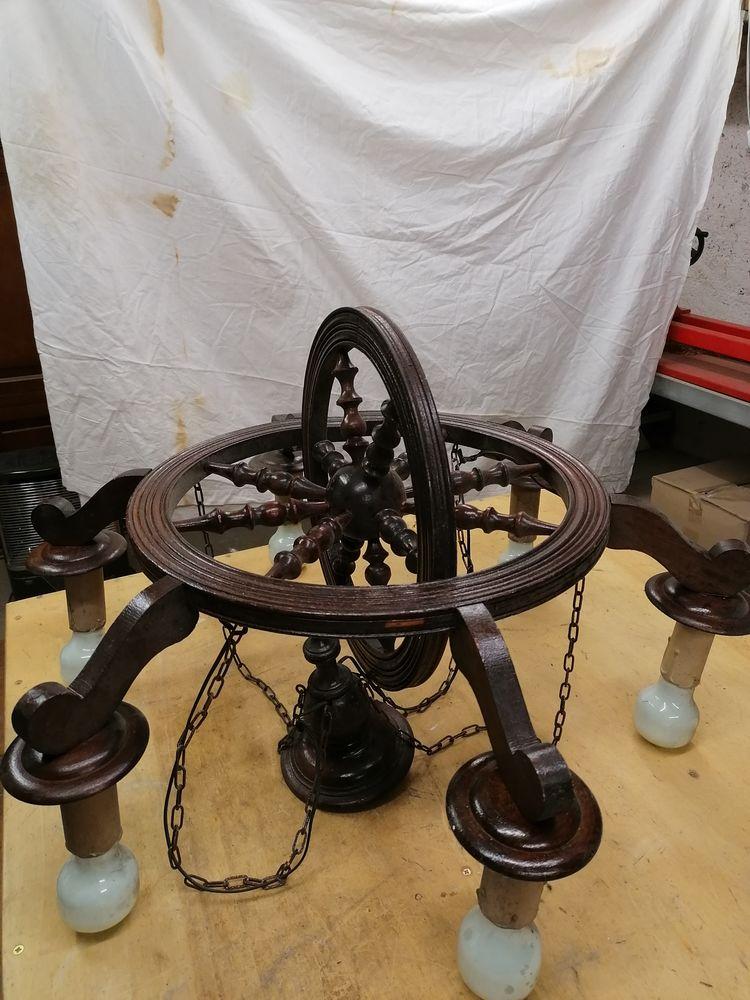 lustre en bois modèle en roue de chariot 50 Ugine (73)