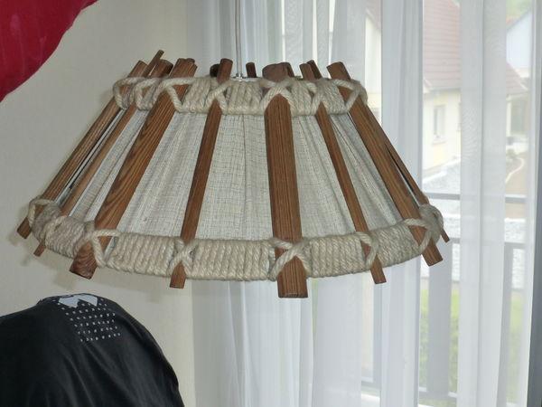 lustre en bois, tissu et corde 10 Pfaffenhoffen (67)