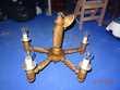 lustre en bois tourné  5 branches  13 Colmar (68)